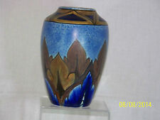 Clews Art Pottery Hand Painted Art Deco Persian Motif Vase