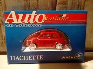 Modellino Die Cast Hachette Fiat Nuova 500 Tetto Apribile 1/43 Nuovo