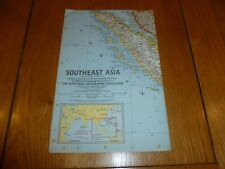 SOUTHWEST ASIA - National Gegraphic MAP - ATLAS PLATE 49 / May 1963