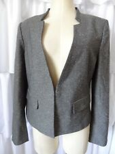 Ann Taylor Black label Womens Cropped Blazer Lined Jacket SZ 12 NWT