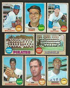 1968 Topps Baseball Lot HOFers Stars Checklists World Series High #s Leaders (54