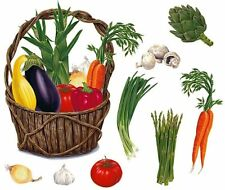 Tatouage Vegetables and Basket Dry Rub Transfer Wall Mural