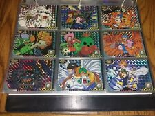 1999 Digimon Adventure Japanese Issue Prism Refractor Holo Set (9) *Impossible
