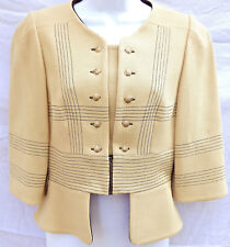 Authenic Fendi Couture Crop Jacket in Butter Color w/ Gold Buttons US: 2-4, IT40