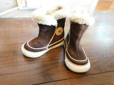 Toddler Sweet CONVERSE Brown Suede high Boots w Fuzzy Lining sz 5 VGUC Clean!