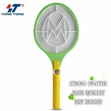 DC Power Electronic Mosquito Swatter Killer Racket Fly Swatter with LED Light