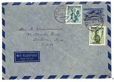 L310 1950 Austria AVIATION Early Airmail Stationery COSTUMES Issue Cover USA