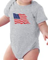 Infant Creeper Bodysuit T-shirt American Flag