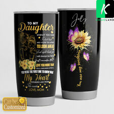 New listing Tumbler Mom To Daughter Whenever You Feel Overwhelmed My Heart 20oz 30oz Tumbler