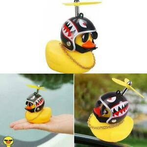 Car Dashboard Decoration Toys Duck With Helmet And Chain Car   Doll
