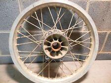 85 Suzuki RM 250 rear wheel silver rim spokes brake hub