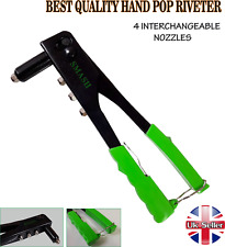 NEW BEST QUALITY POP RIVET GUN WITH  4 HEADS PVC HANDLE AND SAFETY CATCH