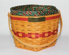 Longaberger 1997 Christmas Collection Snowflake Basket Combo w Liner Protector