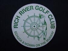 RICH RIVER GOLF CLUB ECHUCA & MOAMA ON THE MURRAY GREEN COASTER