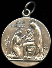Saint Catherine (of Siena) Religious Pendent Silver Filled