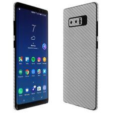 Skinomi Silver Carbon Fiber Skin+Screen Protector For Samsung Galaxy Note 8