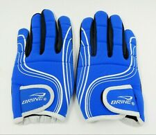 New Nos Brine Energy Lacrosse Athletic Gloves Blue & White Size: Adult Small