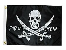 Taylor Made Products 1799, Pirate Heads Boat Flag, 12 inch x 18 inch, Pirate .