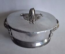Vintage Hammered Aluminum Tulip Covered Casserole W/Handles Mid Century Digsmed