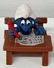 Vintage 1981 Schleich Peyo Smurfs PVC Figure Smurf At Deck