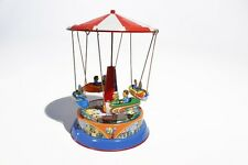 + Blechspielzeug  DACH - KARUSSELL mit  Gondeln   Made in Germany °° Tin Toy °°
