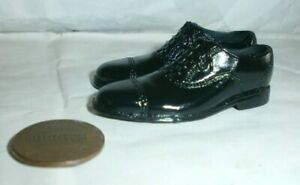 Alert Line RAF pilot black shoes ( for peg feet ) 1/6th scale toy accessory