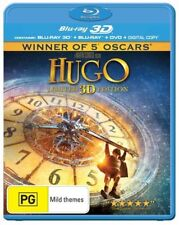 *New & Sealed* Hugo 3D (Limited Edition Blu-ray 3D + 2D + DVD, 2012, 3-Disc Set)