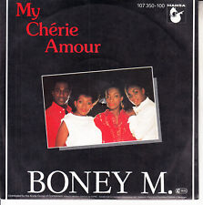 """BONEY M  My Cherie Amour PICTURE SLEEVE 7"""" 45 record NEW + jukebox title strip"""
