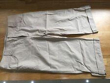 Calvin Klien Ritagliata Cotone Pantaloni Capris Taglia USA 6 UK 10 Beige