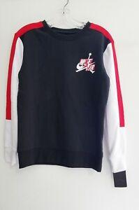Nike Air Jordan Big Boys Jumpman Classics Logo Sweatshirt Black Multi Sz L - NWT
