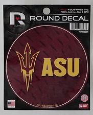 "Arizona State Pitch Forks Round Decal Car Window Sticker 4.5"" College Dorm"