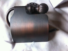 OIL RUBBED BRONZE TOILET PAPER HOLDER WITH COVER