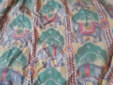 A Pr of Laura Ashley Home Kid's Lined Curtains Elephants &  Birds £30!
