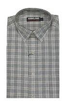 Kirkland Signature Men's Long Sleeve Twill Sport Shirt Tailored Fit Ivory XXL