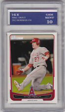 MIKE TROUT ROOKIE CARD Baseball Graded GEM MINT (10) Bowman RC Anaheim Angels $$