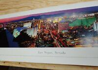 "Las Vegas Strip Panoramic Photo Print by Gjevre 39.5"" x 13.5"" Ready to Frame"