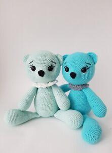 Süßes Bärchen gehäkelt Taufe♥Baby♥Geschenk♥Geburt Neu Handarbeit