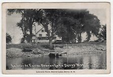 1937 DERRY NEW HAMPSHIRE PC Postcard LAKESIDE FARM Beaver Lake NH Frank Swallow