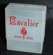 "Cavalier King Size Plastic Cigarette Case Princess Tupper Corp USA Slide On 3"""