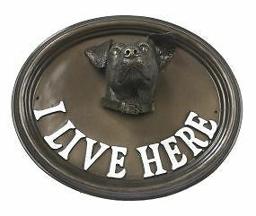 "Wall Or House Sign Jack Russell ""I Live Here"""