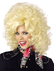 Country Western Dolly 1950s 60s 70s 80s Womens Costume Wig