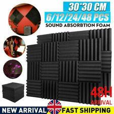 More details for 48pcs 30cm acoustic wall panel tiles studio sound proofing insulation foam pads