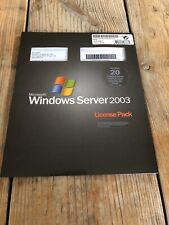 20er User CALs für Microsoft Windows 2003 Terminal Server /RDS mit MwSt Rechnung