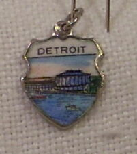 Vintage REU Sterling/Enamel Detroit, Michigan - Civic Center Bracelet Charm