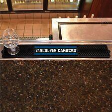 "Vancouver Canucks 3.25"" x 24"" Bar Drink Mat - Man Cave, Bar, Game Room"