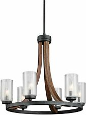 Kichler 43193AUB Grand Bank Chandelier 6-Light Auburn Stained Finish