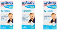 3x Vitabiotics WellBaby Multi-Vitamin Liquid 150ml (6 months to 4 Years)