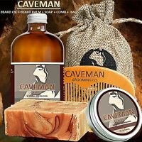 Hand Crafted Caveman® Beard Oil KIT + Beard Balm + FREE Comb + Soap + 15 Scents