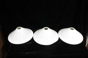 Glass White Lamp Shade 3 Pc Vintage Antique Home Decor Collectible PT-40