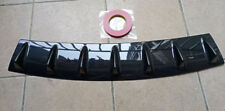 """Shark Fin 7 Wing Lip Diffuser 33"""" x6"""" Rear Bumper Chassis Black ABS  Universal"""